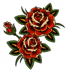 tattoo rose vector image vector image