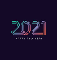 2021 colored lines vector