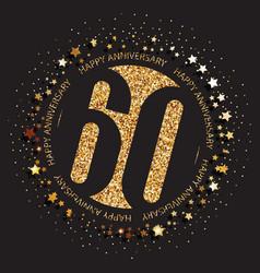 60th birthday logo vector