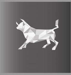 a bull in paper style on a vector image