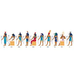 Ancient egyptian gods egyptian culture gods vector