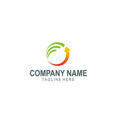 arrow business finance company logo vector image