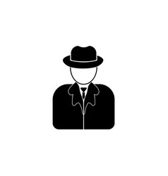 Avatars of the detective iconelement of popular vector