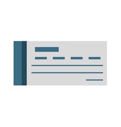 bank check symbol vector image