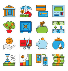 Banking and financial money services bank vector