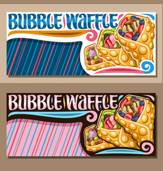 Banners for bubble waffle vector