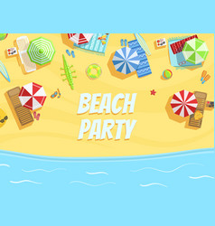 beach party banner template summer party vector image