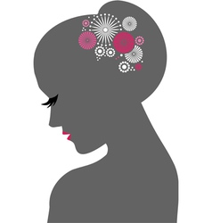 Beauty icon Woman vector image