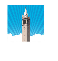 berkeley campanile tower vector image