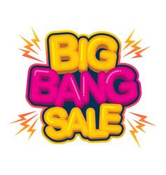Big bang sale - image vector