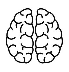 Brain neurons icon outline style vector