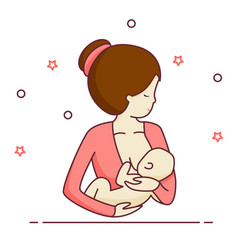 breastfeeding icon vector image