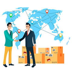 Business with china partnership and deliver vector