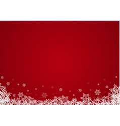 christmas snowflake abstract background vector image