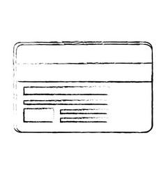 credit card isolated vector image