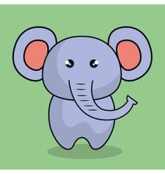 Cute elephant stuffed icon vector