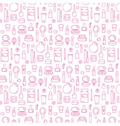decorative cosmetic pattern vector image
