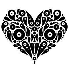 Decorative heart tattoo vector image