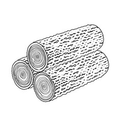 Design deck and firewood logo vector