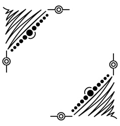Doodle abstract handdrawn corners frame vector
