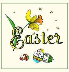 Easter typography vector image