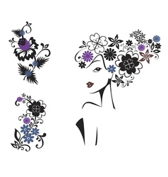 elegant woman vector image