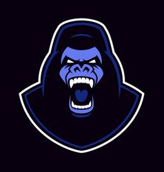 emblem of a gorilla mascot vector image