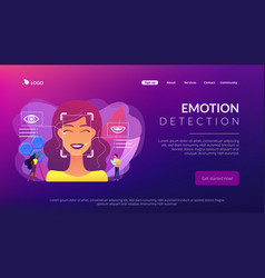 Emotion detection concept landing page vector