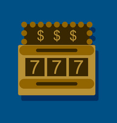 flat icon design collection jackpot machine vector image vector image