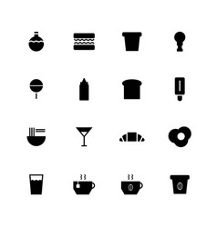 food and beverage icon vector image