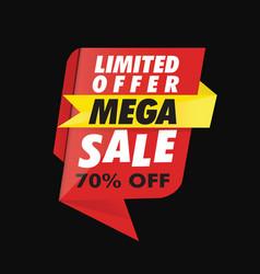 Geometric limited offer mega sale banner vector
