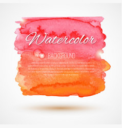 Hand drawn watercolor backdrop vector