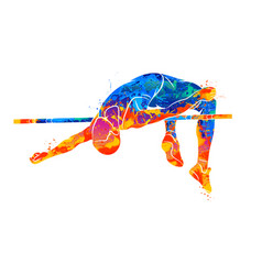 High jump abstract vector