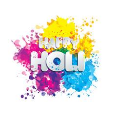 holi spring festival of colors design vector image