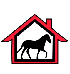 Horse farm logo vector