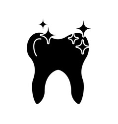 Human tooth with stars vector