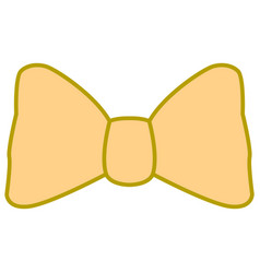 Isolated bowtie icon vector
