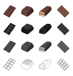 Isolated object chocolate and flavor icon set vector