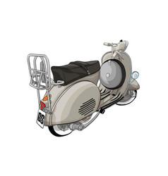 Ittalian scooter vector