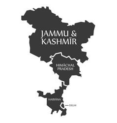 Jammu and kashmir - himachal pradesh - haryana vector