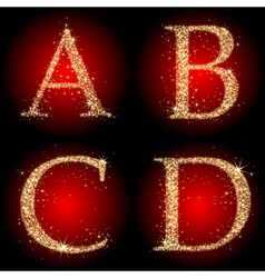 letters stars red vector image