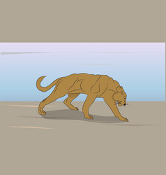 Lioness on nature vector