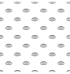 Lips with lines drawn around it pattern vector