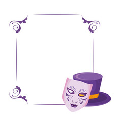 Mask and top hat frame vector