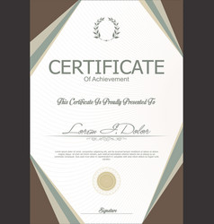 modern certificate or diploma template 2 vector image