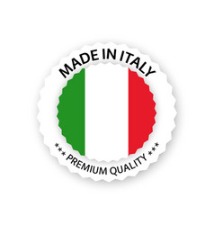 modern made in italy label isolated on white vector image