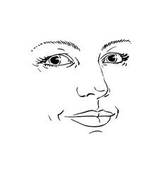 Monochrome silhouette of romantic attractive lady vector
