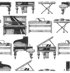 pattern with different pianos vector image