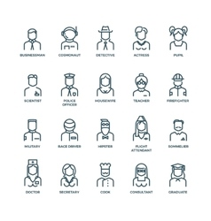 People avatars characters staff professions vector