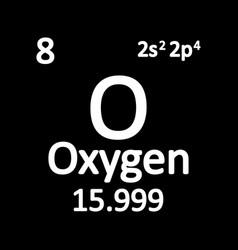 periodic table element oxygen icon vector image